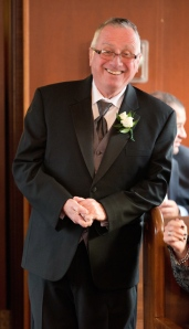 My Dad at my wedding:  this smile complete captures his personality.